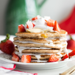 pancakessquare 5588 256x256   Easy Vegan and Gluten Free Pancakes (Strawberry Shortcake w/ Whipped Cream)