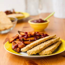 IMG 6311 256x256   Easy Weeknight Dinner: Crispy Breaded Tofu Strips & Sweet Potato Fries